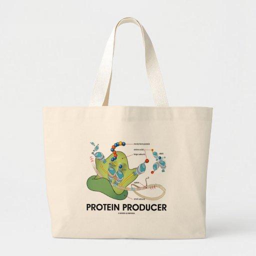 Productor de la proteína (síntesis de la proteína  bolsa tela grande