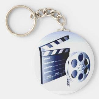 Productor de película llavero redondo tipo pin
