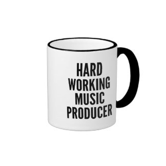 Productor de trabajo duro de la música tazas de café