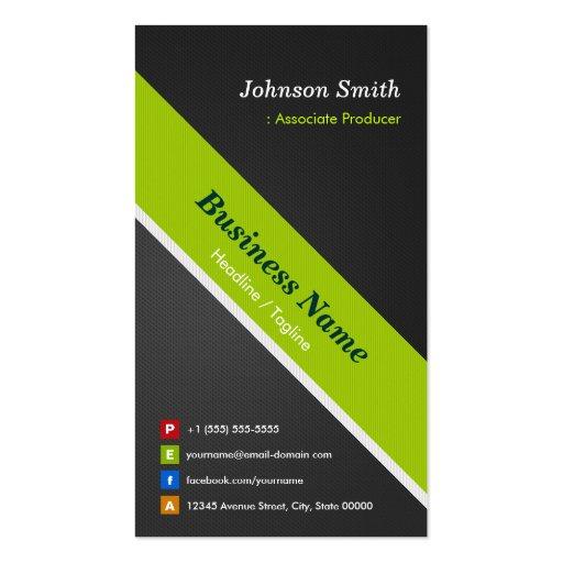 Productor del socio - negro y verde superiores tarjetas de visita