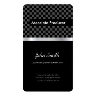 Productor del socio - tablero de ajedrez negro ele plantilla de tarjeta personal