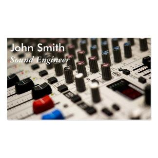 Productor independiente de la música del ingeniero tarjetas de visita