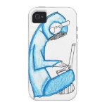 Productor móvil de la música - azul vibe iPhone 4 carcasa