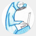 Productor móvil de la música - azul pegatinas