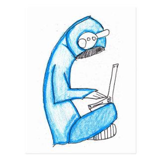 Productor móvil de la música - azul postal