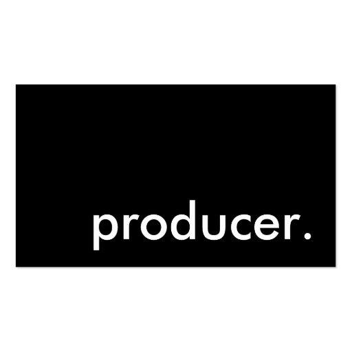 productor tarjeta de visita