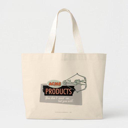 Productos 9 de la cumbre del coyote del Wile E Bolsa De Tela Grande