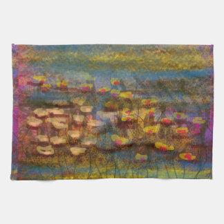 Productos abstractos impresionistas de la bella toalla de cocina