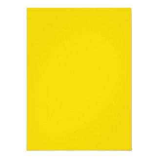 Productos adaptables amarillos de oro del color invitación 13,9 x 19,0 cm