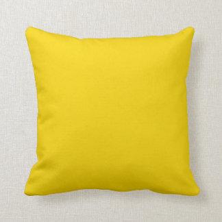 Productos adaptables amarillos de oro del color so almohadas