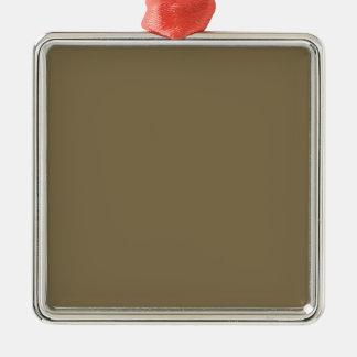 Productos adaptables de color caqui Greyed del Adorno Navideño Cuadrado De Metal