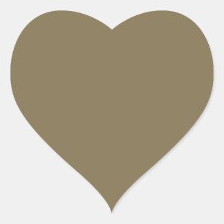 Productos adaptables de color caqui Greyed del Pegatina En Forma De Corazón