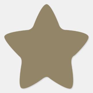 Productos adaptables de color caqui Greyed del Pegatina En Forma De Estrella