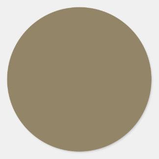Productos adaptables de color caqui Greyed del Pegatina Redonda