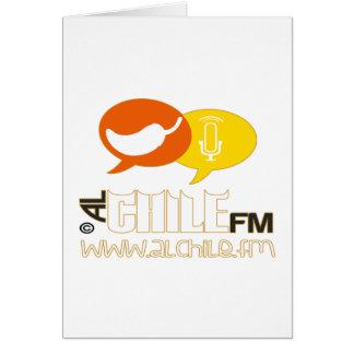 PRODUCTOS ADAPTABLES DE RADIO DE ALCHILE FM TARJETA DE FELICITACIÓN