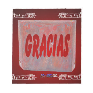 PRODUCTOS ADAPTABLES ROJOS DE GRACIAS BLOC DE NOTAS