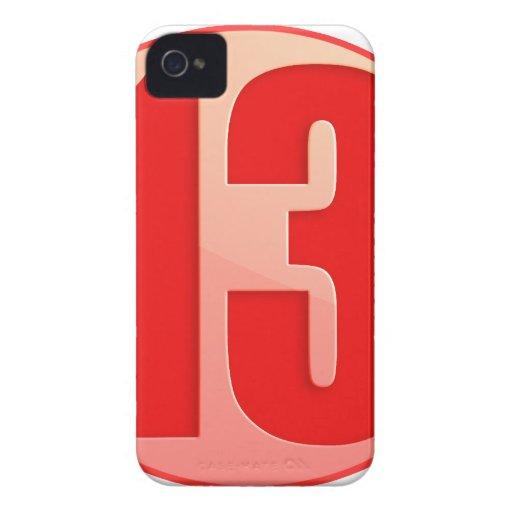 PRODUCTOS AFORTUNADOS DEL ROJO 13 Case-Mate iPhone 4 COBERTURA