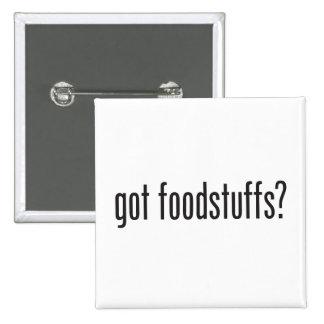 productos alimenticios conseguidos pin cuadrada 5 cm