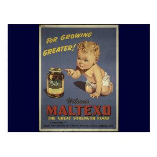 Productos alimenticios estupendos tarjeta postal