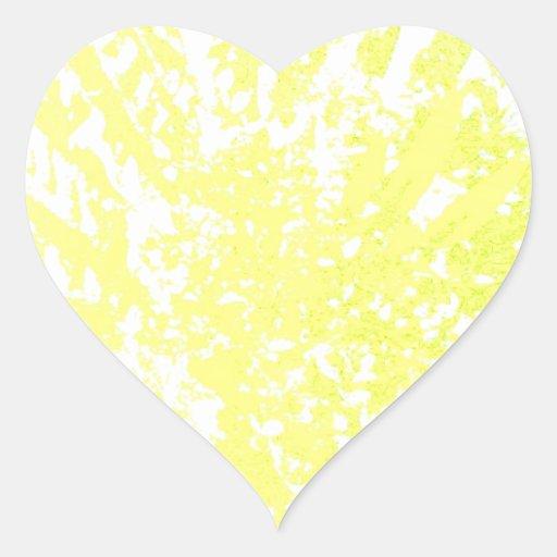 productos amarillos brillantes calcomanía de corazón