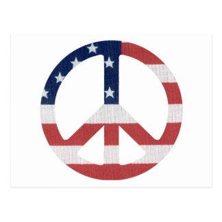 ¡Productos americanos del signo de la paz! Postales