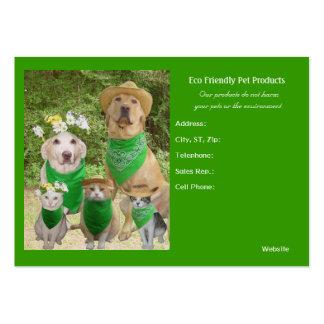 Productos amistosos del mascota de Eco Plantilla De Tarjeta De Visita