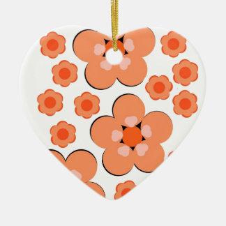 Productos anaranjados florales ornamento para arbol de navidad