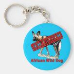 Productos animales en peligro africanos del perro  llaveros