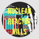 Productos antinucleares de la protesta del reactor pegatina redonda