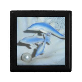 productos azules del ornamento de los delfínes cajas de regalo