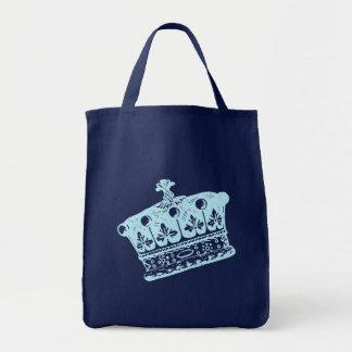Productos azules grandes de la corona o de la coro bolsa tela para la compra