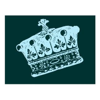 Productos azules grandes de la corona o de la postal
