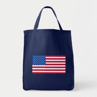 Productos básicos de la bandera americana bolsa tela para la compra