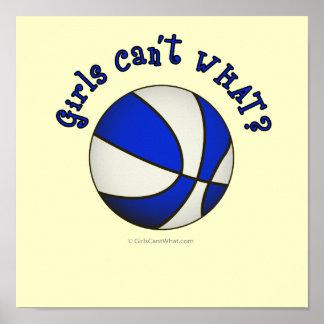 Productos blancos azules del baloncesto - poster