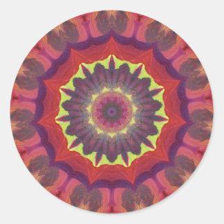 Productos brillantes y únicos del diseño del color pegatina redonda