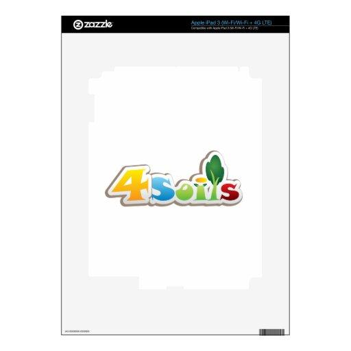 productos calificados logotipo 4Soils iPad 3 Skin