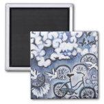 Productos caprichosos de la pintura de la biciclet imán para frigorífico