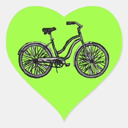 Productos clásicos de la bicicleta calcomanías de corazones