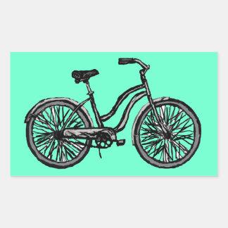 Productos clásicos de la bicicleta pegatina rectangular