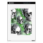 Productos clásicos verdes del cráneo y de los rosa calcomanías para el iPad 2