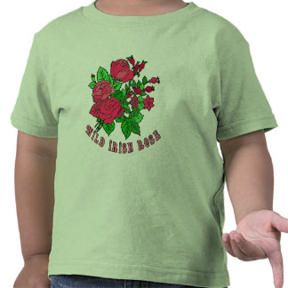 Productos color de rosa irlandeses salvajes camiseta