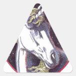 Productos Color.jpg del unicornio Pegatina Triangular
