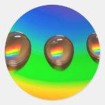 Productos coloridos del modelo pegatina redonda