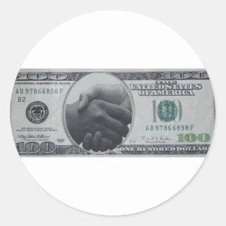 Productos con el dólar americano etiquetas redondas