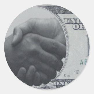 Productos con el dólar americano pegatina redonda
