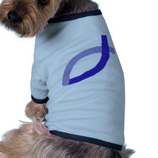Productos cristianos - azul camiseta con mangas para perro