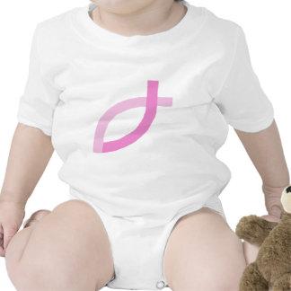 Productos cristianos - pescados rosados camiseta