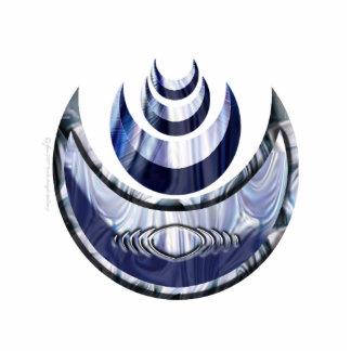 Productos de acrílico esculpidos Cresent verticale Pin Fotoescultura