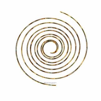 Productos de acrílico esculpidos espiral pin fotoescultura