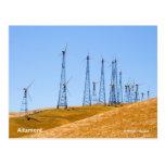 Productos de California de los molinoes de viento  Tarjetas Postales